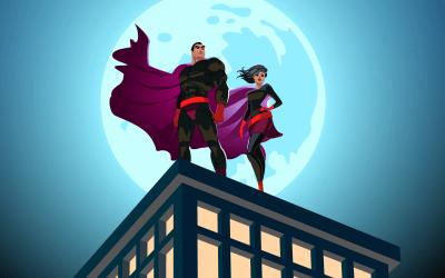 cartoon super heroes