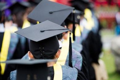 Graduates lined up