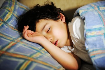 An image of a sleeping child