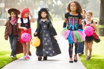 kids on halloween