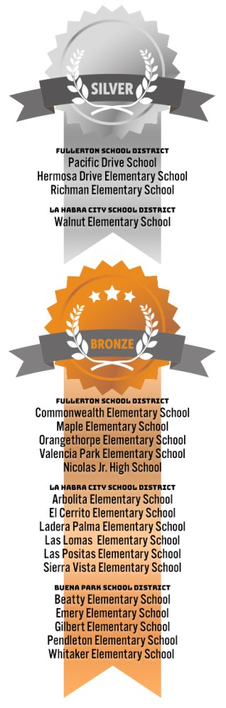 Silver and bronze awards listed in story