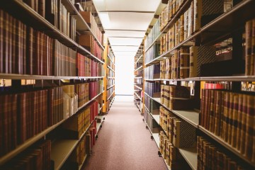 An image of a library hallway