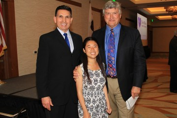 Orange County Superintendent Al Mijares with Dr. James Doty and a student