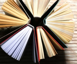 A stock photo of books