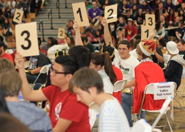 Students at the Academic Decathlon