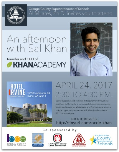 Sal Khan event invitation