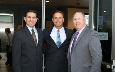 Orange County Superintendent Al Mijares, Irvine Unified Superintendent Terry Walker and Irvine Board of Education President Ira Glasky