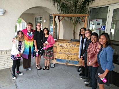 Washington Middle School students and their teacher