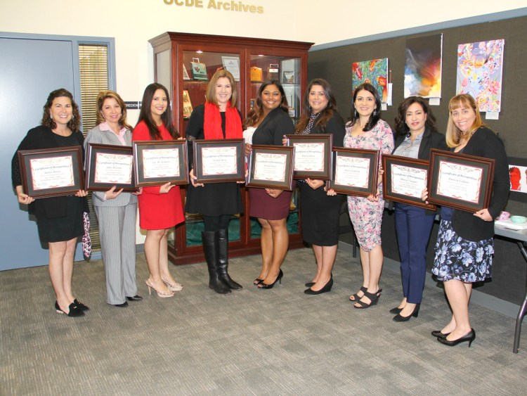 Counselors honored through OCDE's Counselor Recognition Program