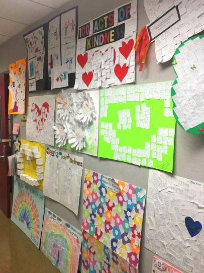Kindness posters at Fisler Elementary School