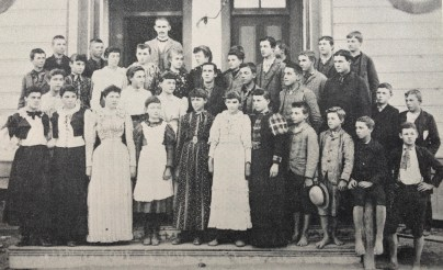 A photo from 1893 showing students at Garden Grove School