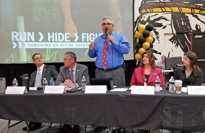 speakers discuss how schoools are dealing with school shootings
