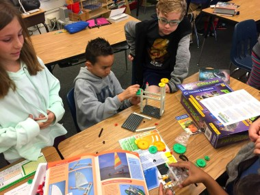 Students working on a science project