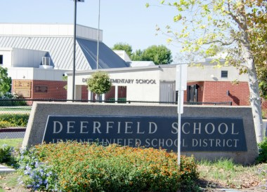 Deerfield Elementary sign