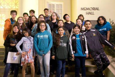 Student members of Buena Park Junior High School's Club Live