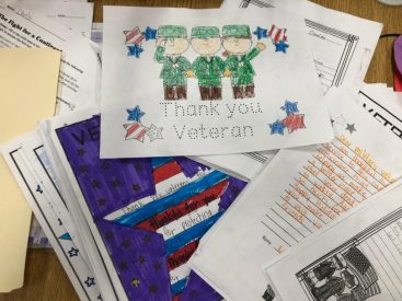 Thank-you letters to troops