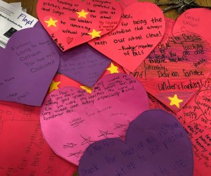 Heart-shaped notes