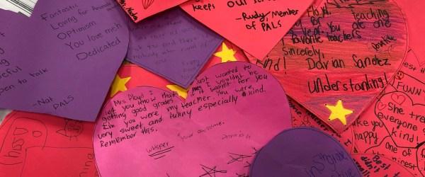 Heart-shaped notes