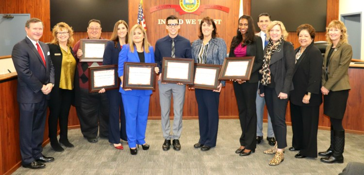 Recipients of OCDE's Counselor Recognition and Counselor Advocate Awards program