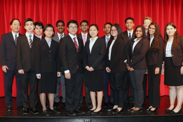 students from the woodbridge high academic decathlon team