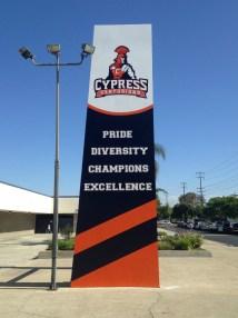 Cypress High banner