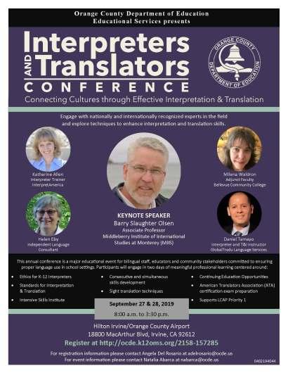 Interpreters and Translators Conference flier