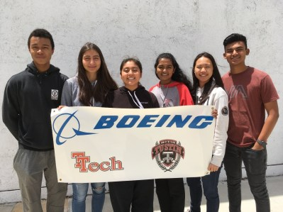 Tustin students at Boeing