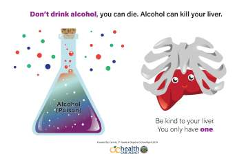 anti alcohol poster