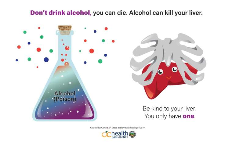 anti alcohol poster
