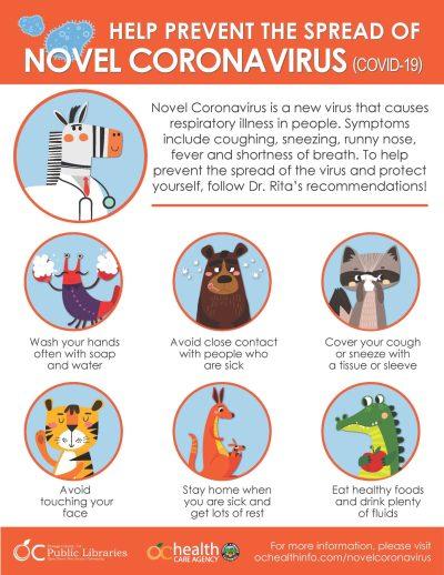 Coronavirus flier for kids