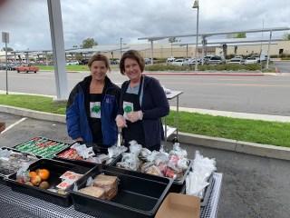 Staff serving meals