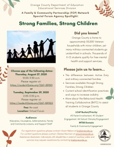 Strong Families Strong Children Flyer
