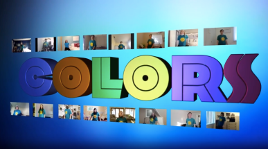 """Graphic of students and the word """"Colors"""""""