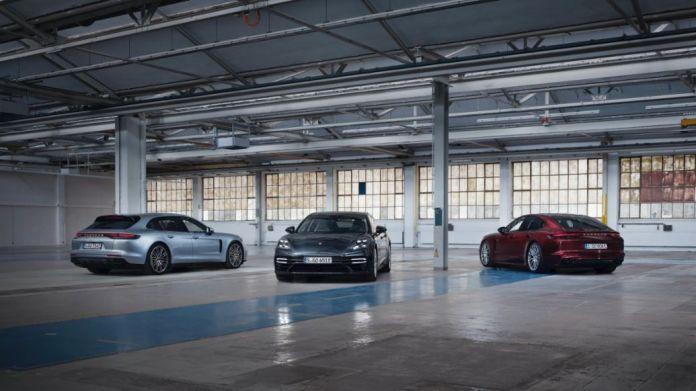 Panamera 4 E-Hybrid Sport Turismo, Panamera Turbo S E-Hybrid Executive, Panamera 4S E-Hybrid, l-r, 2020, Porsche AG