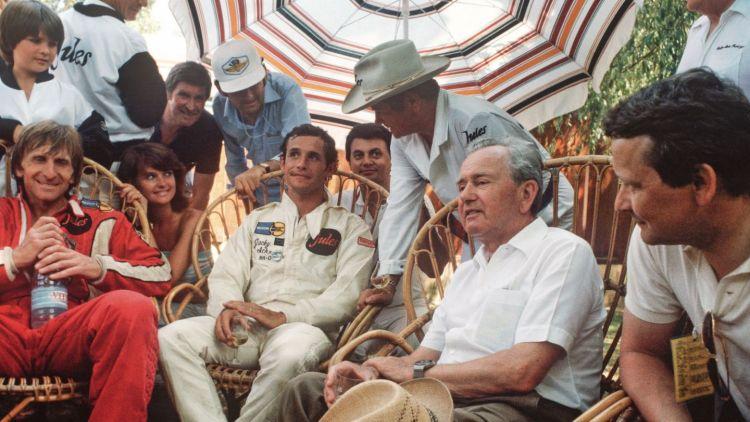 Derek Bell, Jacky Ickx, Dr. Wolfgang Porsche, l-r, Le Mans, 1981, Porsche AG