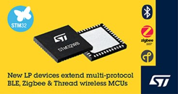 ST Micro released New low-cost Wirelesss MCU 1