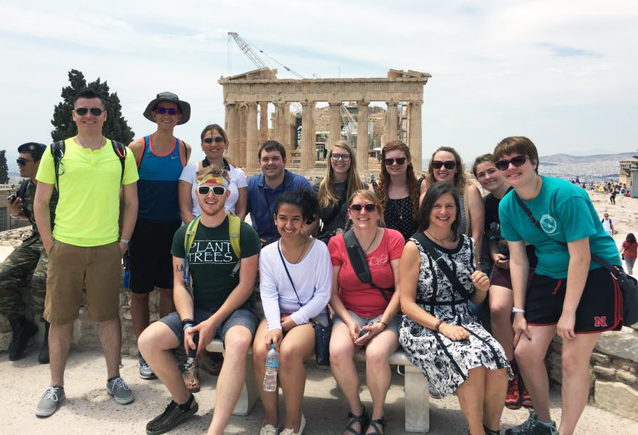 Ten students recently returned from a study abroad trip to Greece, where they studied sustainability and food production. They were: Thomas Clutter, business major; Johnna Guernsey, fish and wildlife major; Jace Kranau, natural resources and environmental