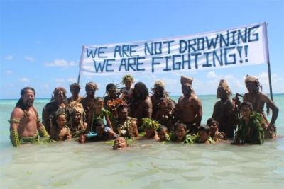 Tokelauns protest against climate change during the Pacific Warrior Day of Action | Source: ABC.net