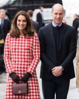 Кэтрин, герцогиня Кембриджская и принц Уильям, герцог Кембриджский во время их королевского визита в Стокгольм, Швеция 31 января 2018 года.