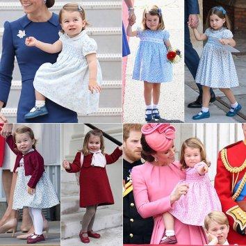 Шарлотта всегда носит такие же красные и голубые ботинки