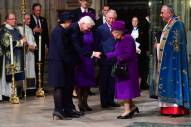 LONDON, ENGLAND - NOVEMBER 11: Queen Elizabeth II attends a service marking the centenary of WW1 armistice at Westminster Abbey on November 11, 2018 in London, England. The armistice ending the First World War between the Allies and Germany was signed at Compiègne, France on eleventh hour of the eleventh day of the eleventh month - 11am on the 11th November 1918. This day is commemorated as Remembrance Day with special attention being paid for this year?s centenary. (Photo by Paul Grover- WPA Pool/Getty Images)