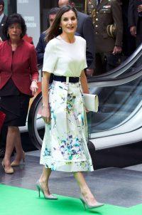 3 июля 2018 Королева на мероприятии в Мадриде.