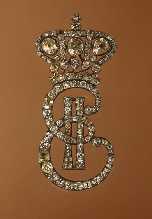 Монограмма Екатерины II. Серебро, золото, бриллианты