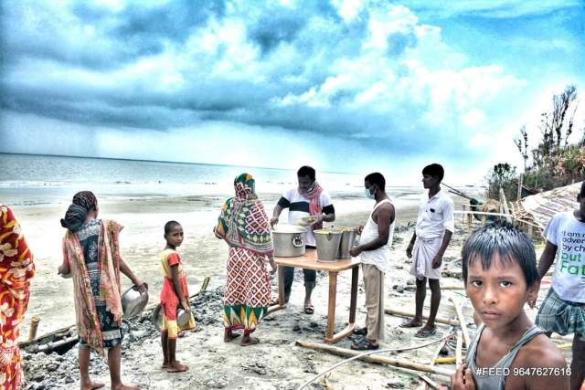 4 1 - Foodman Chandra Sekhar Kundu's Marathon Kitchen Feeding 3000 in Sundarbans