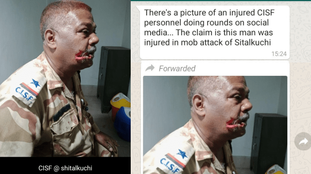 Yellow and Orange Modern Education Art Therapy YouTube Thumbnail 9 - Fact Check: Injured CISF Jawan in Sitalkuchi