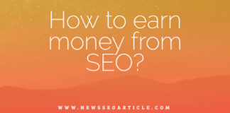How to earn money from SEO? SeO is a very big