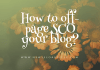How to off-page SCO your blog?