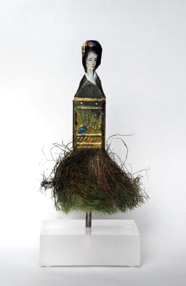 Гейша (2010). Масло на вырезанной кисти.
