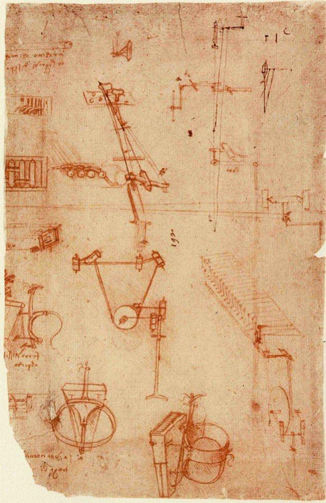 Codex Atlanticus Леонардо Да Винчи, (страница 93r)