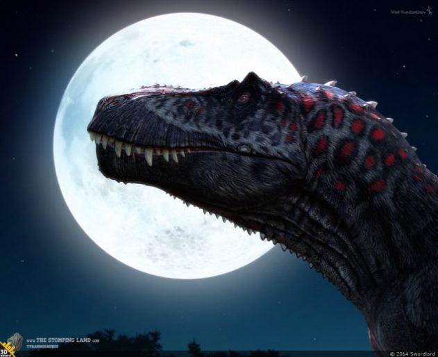 динозавр і місяць